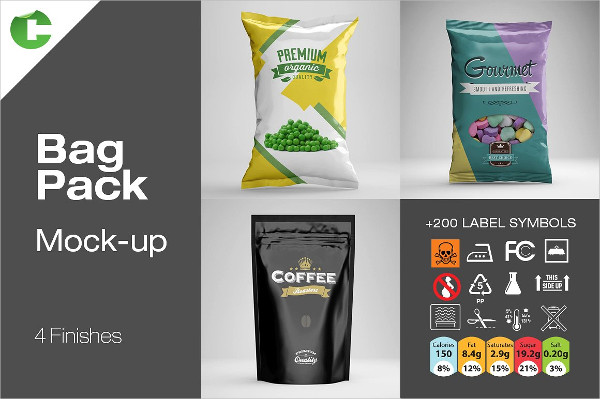 Cool Food Bag Mock-ups Pack