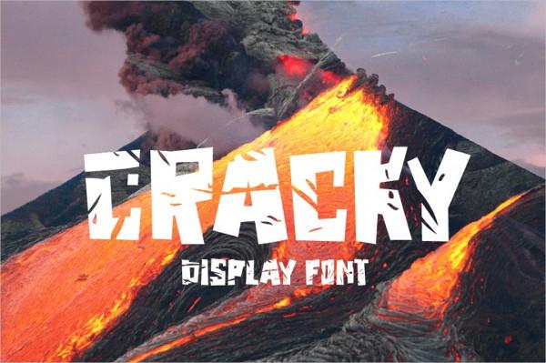 Cracky Display Font