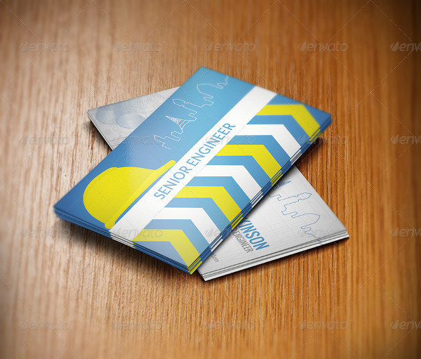 Creative Business Card Template for Senior Engineers
