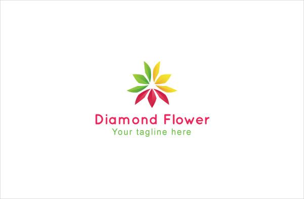 Diamond Flower Stock Logo Template