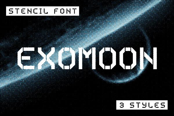 Display Stencil Font