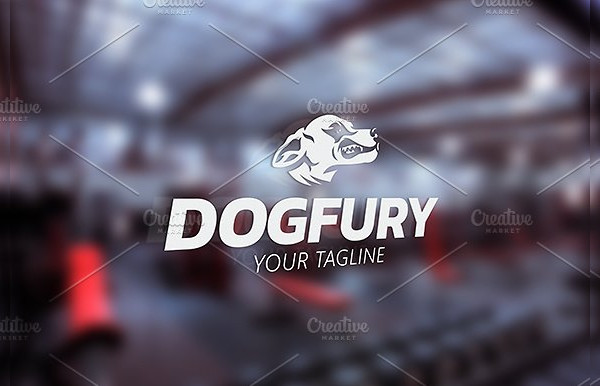 Dog Fury Logo Template
