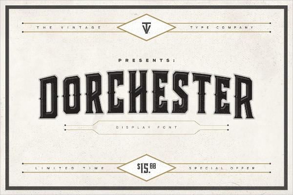 Dorchester Display Logo Font