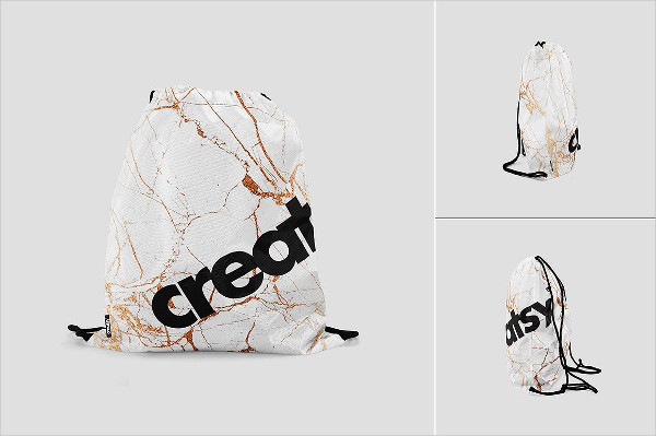 Drawstring Bag Mockups Set