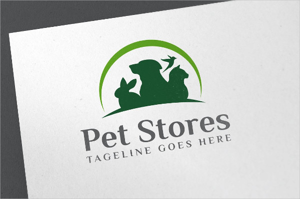 Editable Pet Store Logo Design