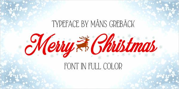 Merry Christmas Color Display Font Free
