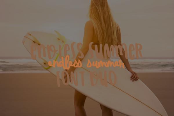 Endless Summer Regular Font Duo