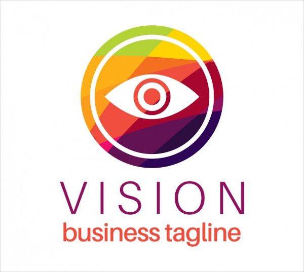 Eye Vision Logo in Colorful Style Free