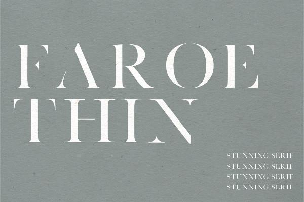 Faroe Thin Serif Font