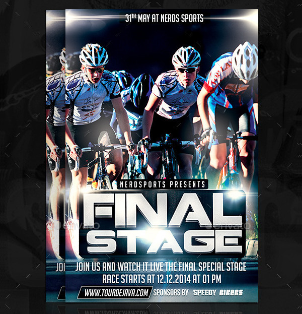 Final Stage Bicycle Sports Flyer Template