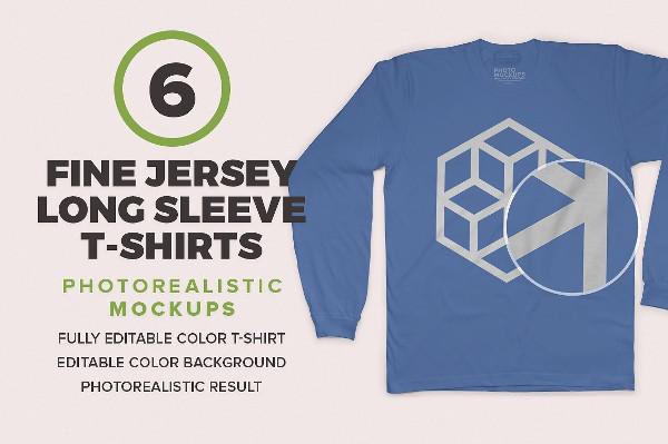 Fine Jersey Long Sleeve Mock-Ups