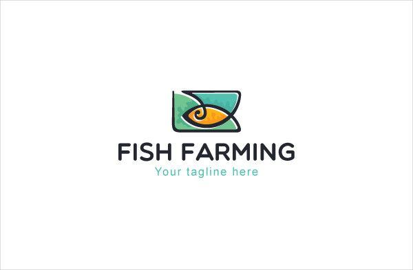 Fish Farming Logo Template