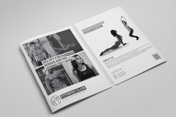 Fitness Club Bifold Brochure Template