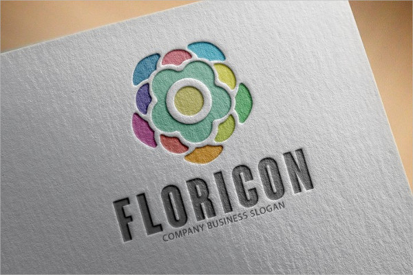 Floricon Flower Logo Template