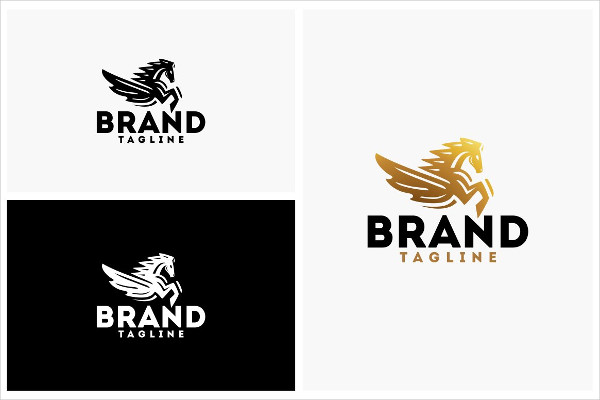Flying Horse Logo Template