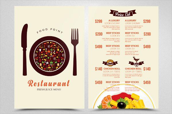 Food Menu Restaurant Flyer Template