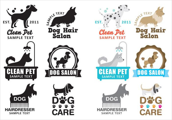 Free Download Dog Wash Logo Templates