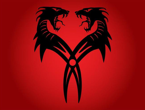 Free Dragons Tattoo Design