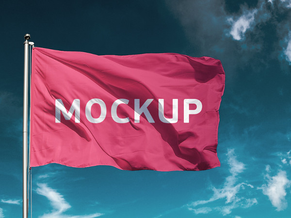 Free Flag Mockup Download