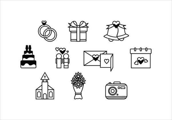 Free Vector Marriage Icons