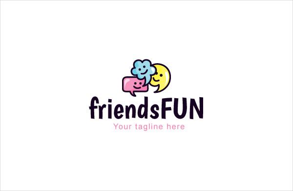 Friends Fun Communication Stock Logo Template
