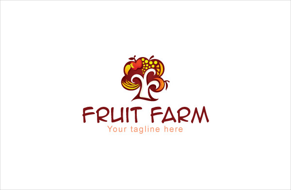 Fruit Farming Abstract Stock Logo Template