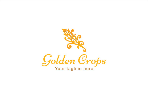 Golden Crops Grain Farming Stock Logo Template