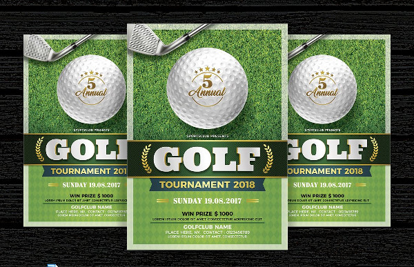 Golf Tournament Invitation Flyer Template