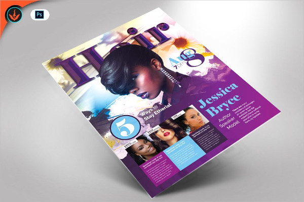 Hair and Fashion Conference Flyer Template