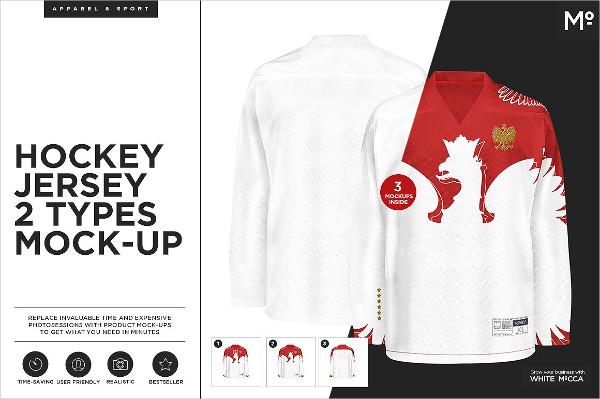 Hockey Jersey 2 Types Mockup