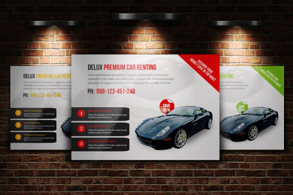 Horizontal Automotive Business Flyer Template