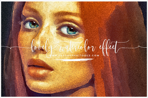 Lovely Watercolor Effect Photoshop Actions
