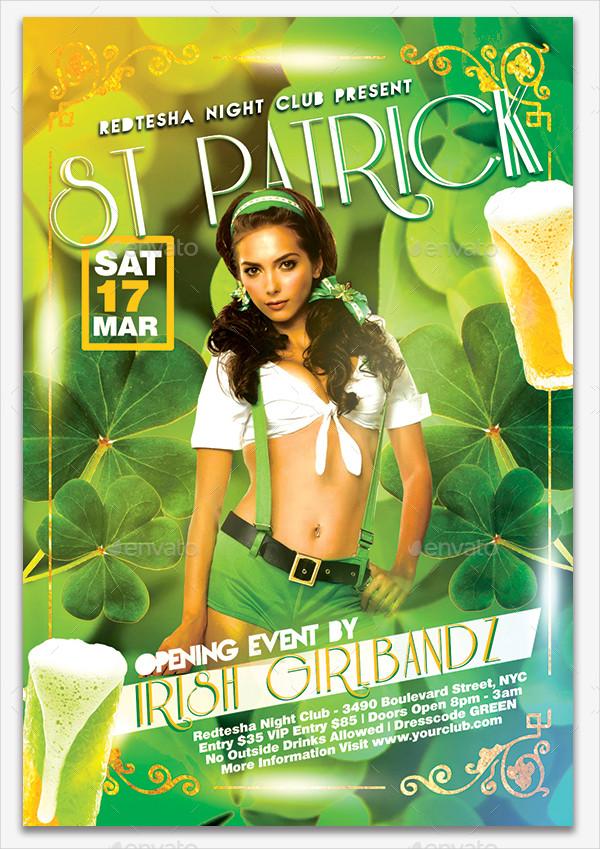 Luxury St Patrick Days Flyer Template