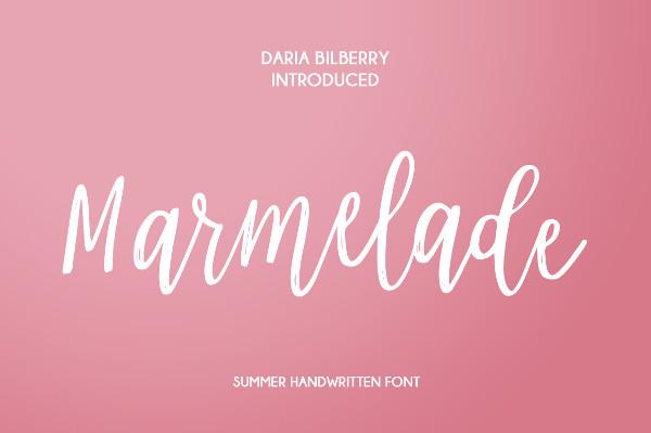 Marmelade Summer Script Font