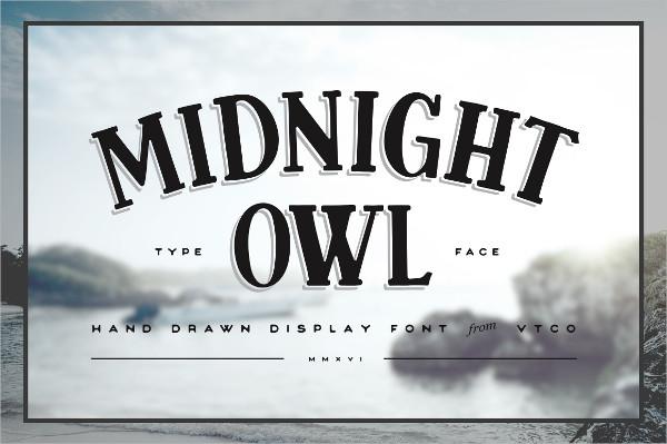 Midnight Owl Display Regular Font