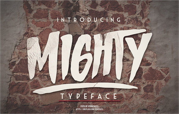 Mighty Typeface Display Font