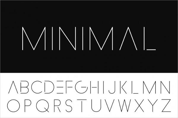 Minimalistic Thin Design Font