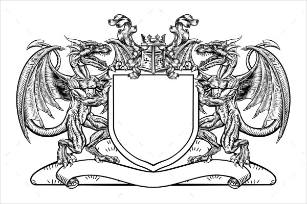 Modern Dragon Tattoo Design