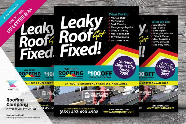 Modern Roofing Flyer Design