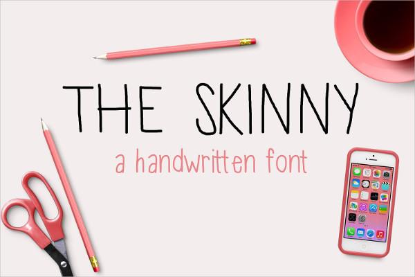 Modern Skinny Thin Fonts