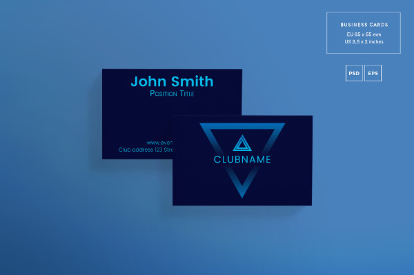 Music Club Business Card Design Template