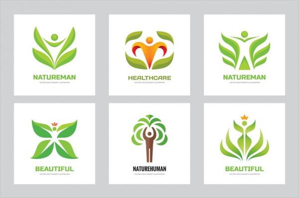 Nature and Human Vector Logo Set