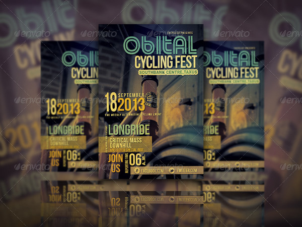 Popular Cycling Fest Flyer Template