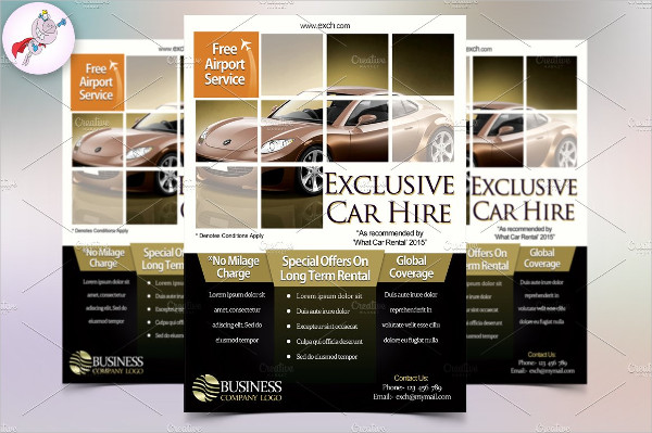 PSD Car Hire Flyer Template
