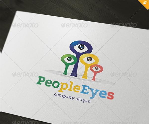 People Eyes Logo Template