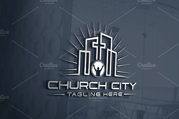 Perfect Church City Logo Template