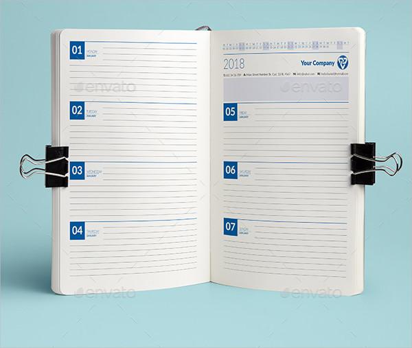 Corporate Weekly Planner Template