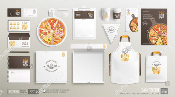 Pizzeria Restaurant Brand Identity Mockup Set