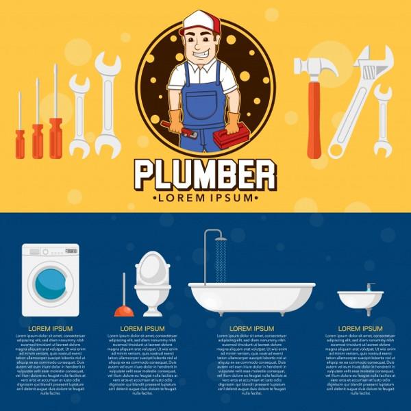 Plumber Flyer Design Free Vector