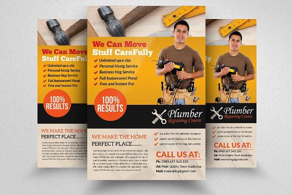 Plumbing Repairing Center Flyer Template